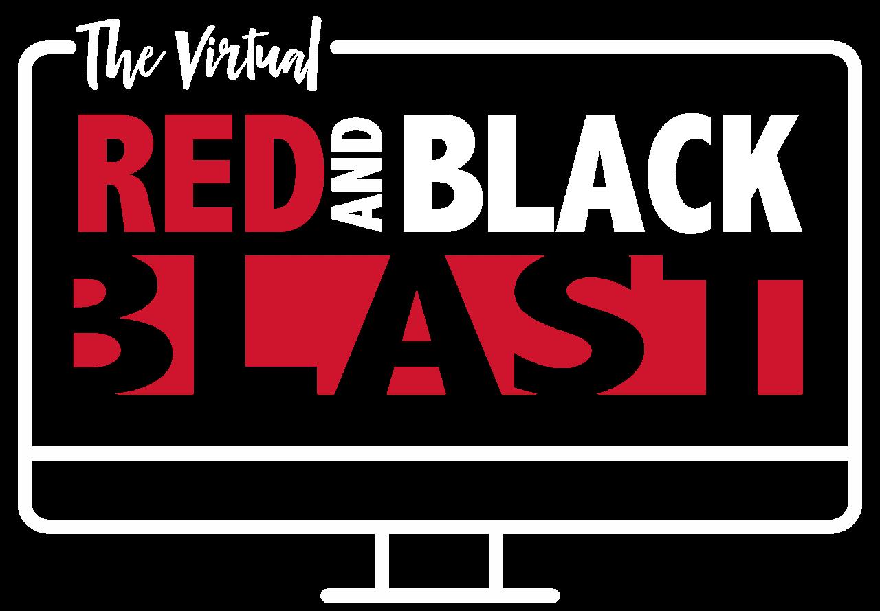 The Virtual Red and Black Blast Logo